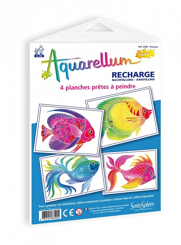 AQUARELLUM JUNIOR - Plansze - Ryby