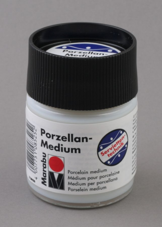 Bezbarwne medium do porcelany do decoupage 50 ml