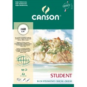 CANSON STUDENT BLOK RYS. FAKT. A4 160G 50A SP