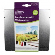 DERWENT ACADEMY LANDSCAPES WITH WATERCOLOUR - farby i kredki 19 szt.